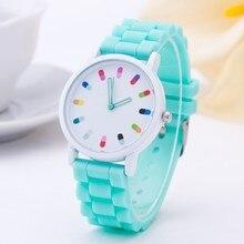 2016 New Famous brand women Dress watches Casual Geneva quartz watch women Silicone Jelly Sport wristwatch relogio feminino