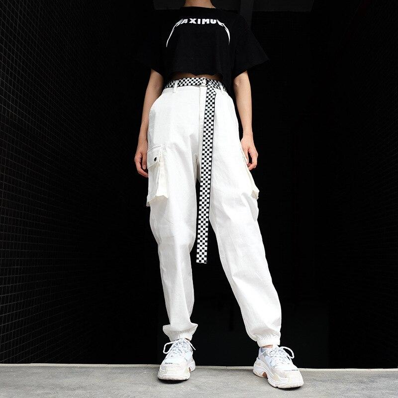ZOGAA Women High Waist Loose Streetwear Pants Big Pockets Cargo Pants Baggy Tactical Trouser Hip Hop High Quality Joggers Pants