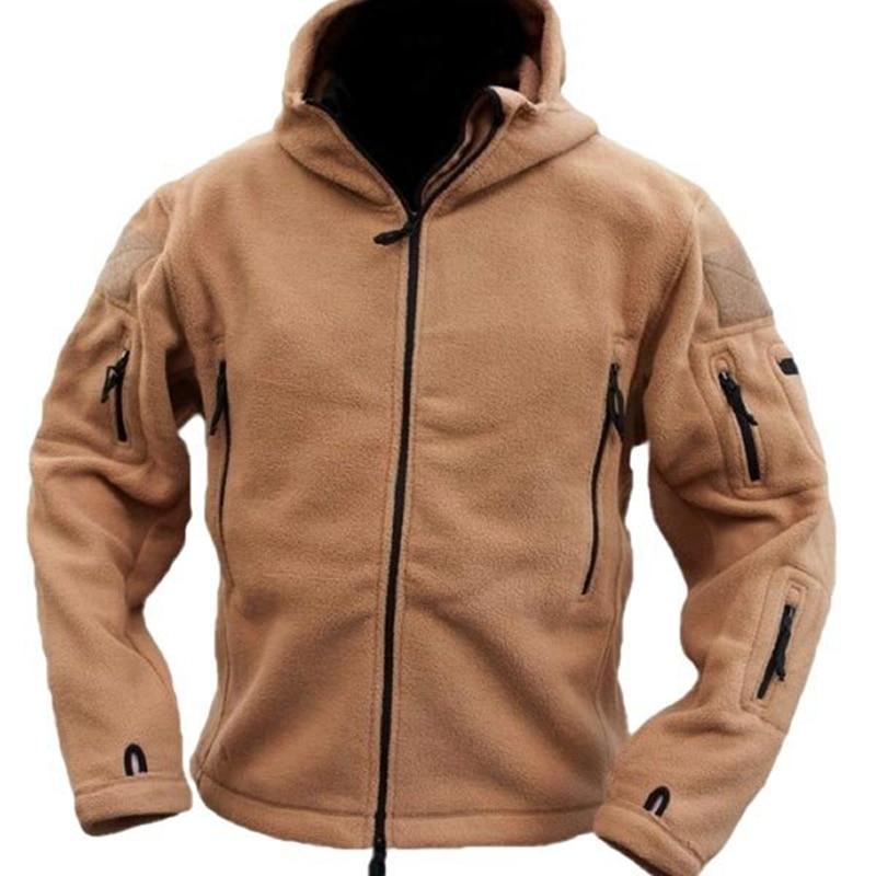 Pria Taktis Militer Musim Dingin Bulu Berkerudung Jaket Softshell - Pakaian Pria - Foto 2