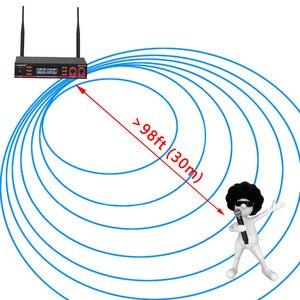 Image 4 - Lomeho LO V52 2 דרך VHF מתכת כף יד משדר דינמי 2 ערוצים כנסיית ועידה קריוקי מסיבת DJ אלחוטי מיקרופון