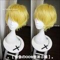Финн высокое качество 30 см теплый золотой полный косплей парики аниме приключения время финн натуральных волос парик бесплатная доставка