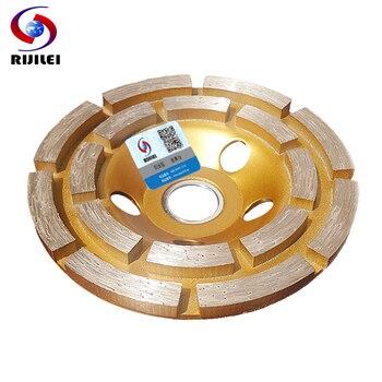 цена на RIJILEI 4inch 100mm Diamond double row Grinding Wheel Disc Bowl Shape Grinding Cup Concrete Granite Stone Ceramics Tools MX34