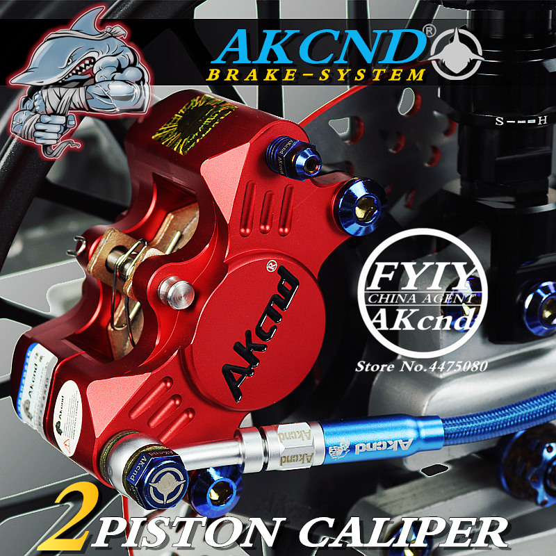 AKCND Universal CNC motorbike brake Scooters 84mm Brake Calipers With 2*34mm Piston For Yamaha Honda Kawasaki Suzuki moto Racing
