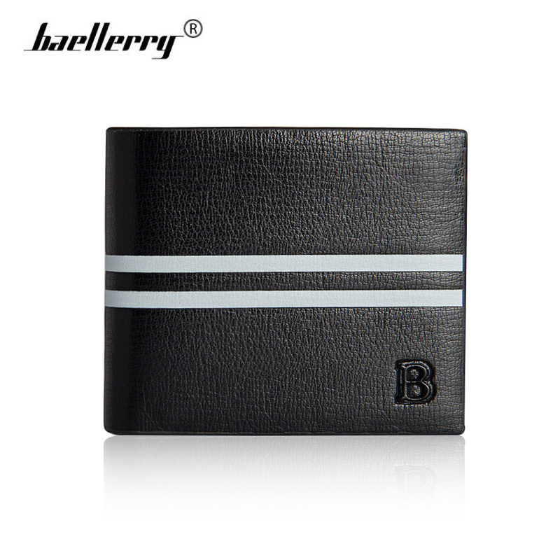 Baellerry Genuine Leather Small Wallet Men Fashion Hit-color Mens Wallets Brand Short Male Purse Card Holder Slim Money Walet williampolo mens mini wallet black purse card holder genuine leather slim wallet men small purse short bifold cowhide 2 fold bag