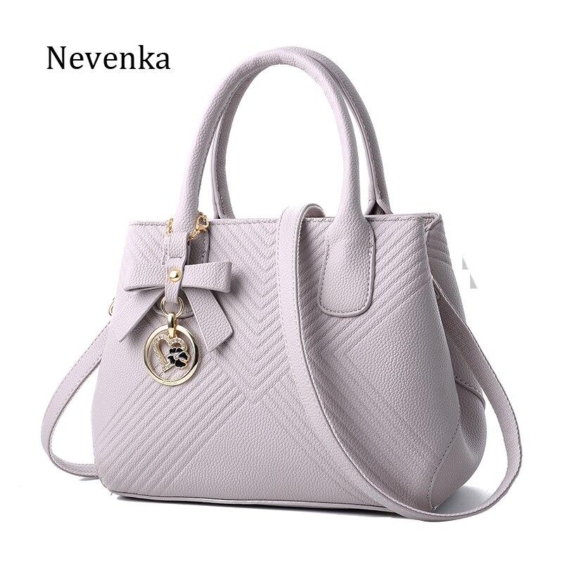 купить Nevenka Women Bag Brand Handbag Style Messenger Bag Lady fashion Bags Pu leather Tote Casual Bow Handbags High Quality Bags Sac недорого