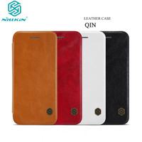 NILLKIN Qin Leather Case for iPhone 8/iPhone 7 Flip Genuine Leather Wallet Case For iPhone 8 Plus/iPhone 7 Plus Phone Cases