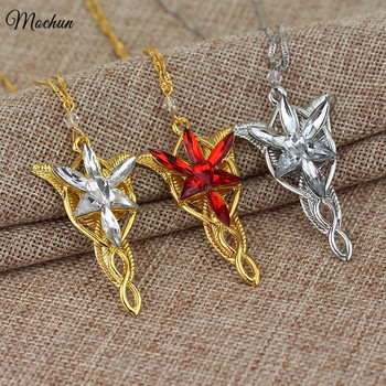 Hot Elves Princess Aragorn Arwen Evenstar the Lord of the twilight star Pendant Alloy Necklace Gift For Fans Movie Jewelry image