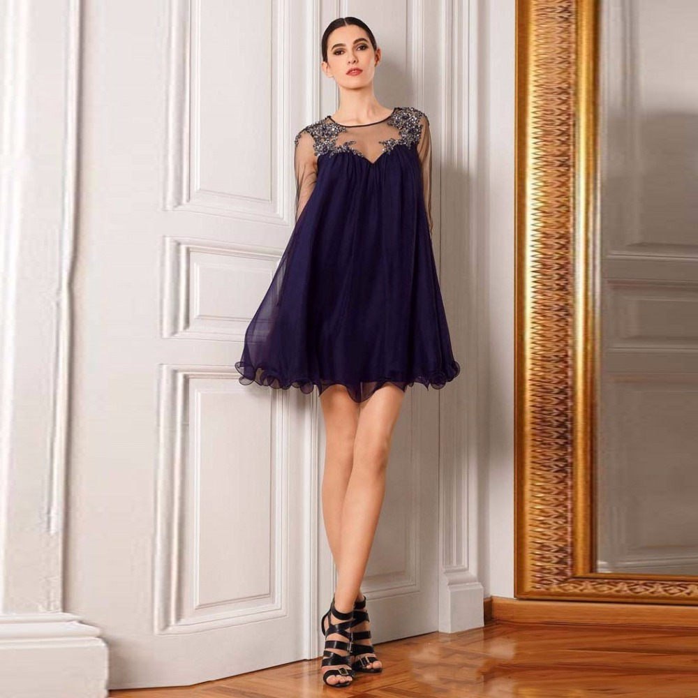 Online Get Cheap Dark Blue Cocktail Dress -Aliexpress.com ...