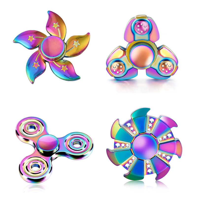 Multi Color Hand Fidget Spinner Metal Finger Spinner ADHD Adult Anti Stress Relax Toys for Kids