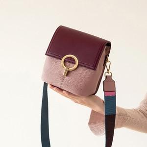 Image 2 - Сумка ведро BRIGGS из натуральной кожи, женская сумка через плечо, роскошная дизайнерская сумка через плечо