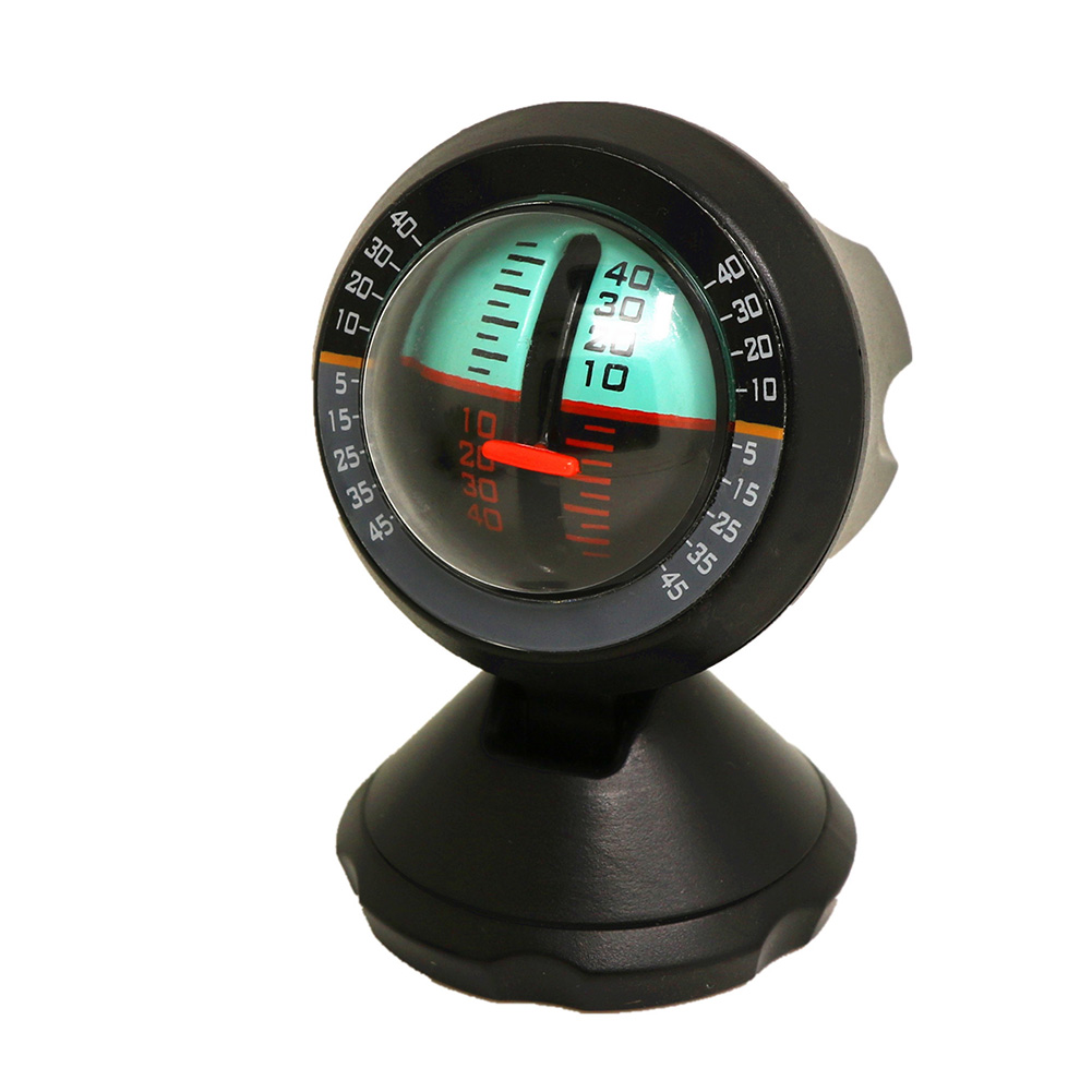 Outdoor Slope Angle Decoration Vehicle Accessories Multifunction Balance Measure Tool Car Inclinometer Adjustable