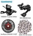 Shimano XT M8000 4 единиц, велосипед велосипедный вынос руля <font><b>mtb</b></font> 11 скорость комплект указано RD-M8000 переключения передач с SunRace кассета K7 цепь kmc 11-46 T 11-50...
