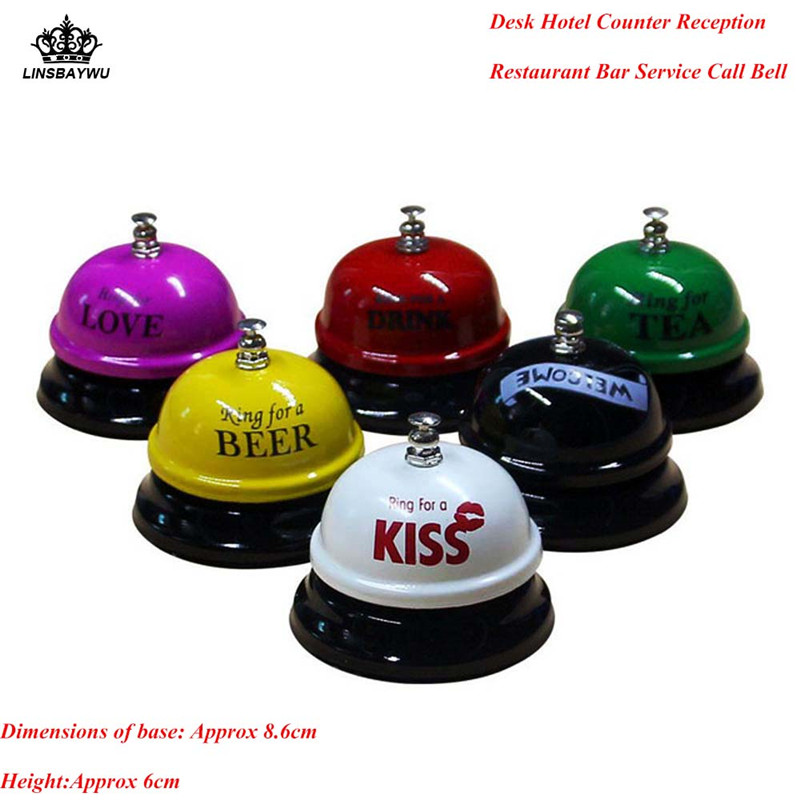 Top Selling Desk Kitchen Hotel Counter Reception Restaurant Bar Ring for Service Call Bell Random Color Free Shipping