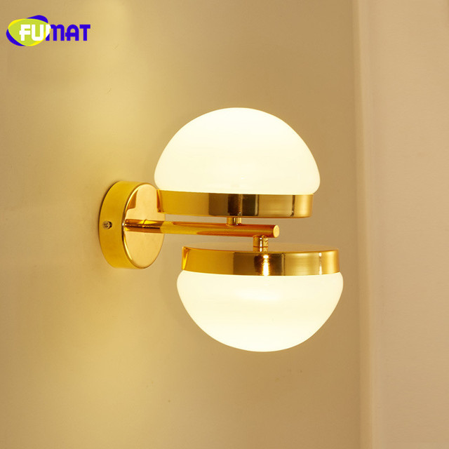 Fumat Wall Lamps Gold Bedroom Light Modern Led Bathroom Lamp Fixtures Sconce Living Room Stairs Gl