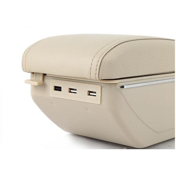 Для Nissan Kicks подлокотник коробка с Usb Автомобильный Центр коробка для хранения с подстаканником пепельница подлокотник вращающийся внутренний аксессуар - Название цвета: Beige
