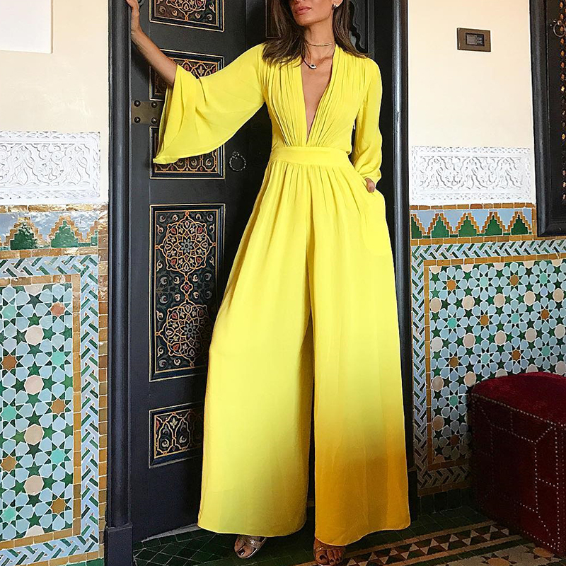 2018 Νέα Άφιξη Καλοκαιρινή μόδα Κίτρινη - Γυναικείος ρουχισμός - Φωτογραφία 1