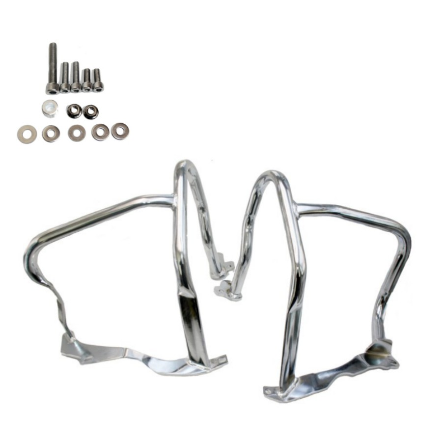 Front Engine Guard Highway Crash Bar Protection For BMW R1200RT 2014-2016 Chrome high quality for bmw r1200gs 2013 2014 2015 motorcycle upper engine guard highway crash bar protector silver