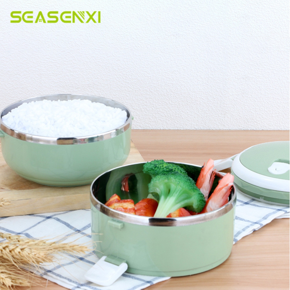 Portable 700ml stainless steel bento for kids school thermal food portable 700ml stainless steel bento for kids school thermal food container lunch box dinner heat preservat bowls 4 colors 1pc in lunch boxes from home forumfinder Image collections
