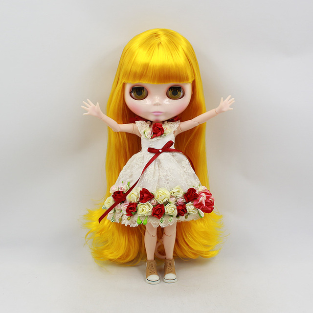 ICY Neo Blythe Doll Golden Hair Jointed Body