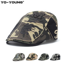 Yo-Young Camouflage Cotton Beret Military Beret Sun Hat Casq