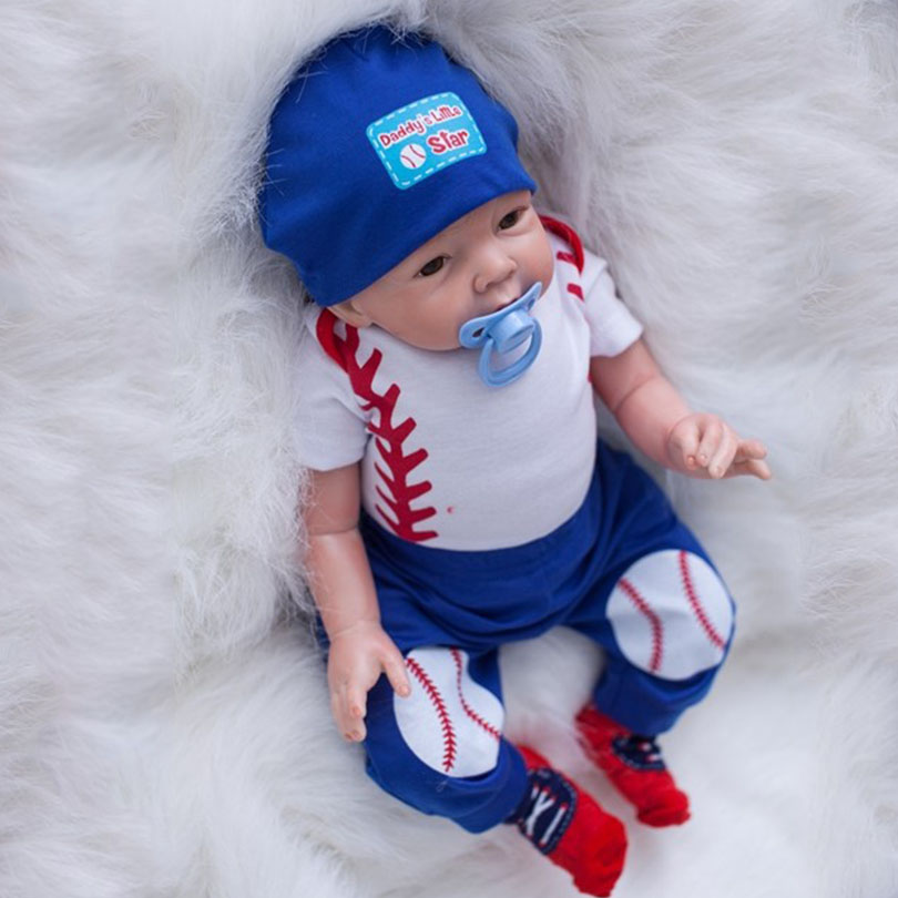New Coming 2017 Doll Reborn Cotton Body Silicone Reborn Babies Gift For Children Brinquedos Cartoon Lovely Baby Born Boy Toys 2016 cotton body reborn babies lifelike princess girls doll toy rooted mohair gift for baby reborn poupon brinquedos new year