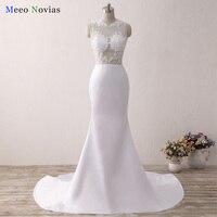 Custom Made Sexy Mermaid Evening Dresses See Through Long White Formal Dress Vestido De Festa Longo