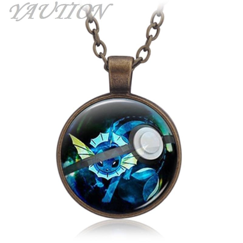 3 Colors Pokemon Go Pocket Monster series Pocket Monster water elf baby time Necklace