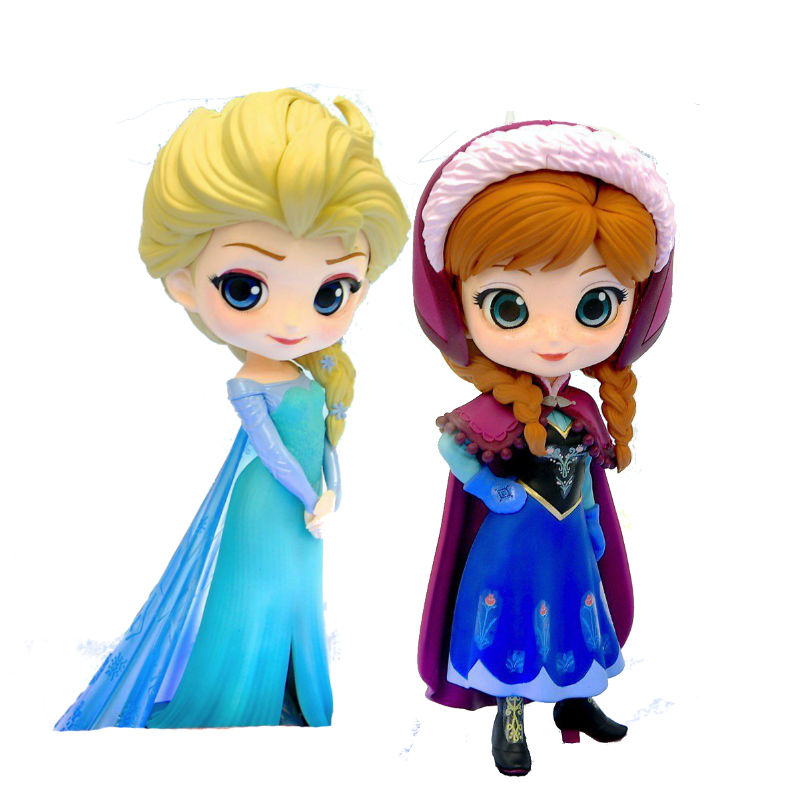 Q posket Characters Figure Anna & Elsa Ice Queen toy figure gift for girl hatsune miku winter plush doll