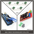 Free shipping Mega 2560 R3 + 1pcs RAMPS 1.4 Controller + 5pcs A4988 Stepper Driver Module + USB cable for 3D Printer diy kit