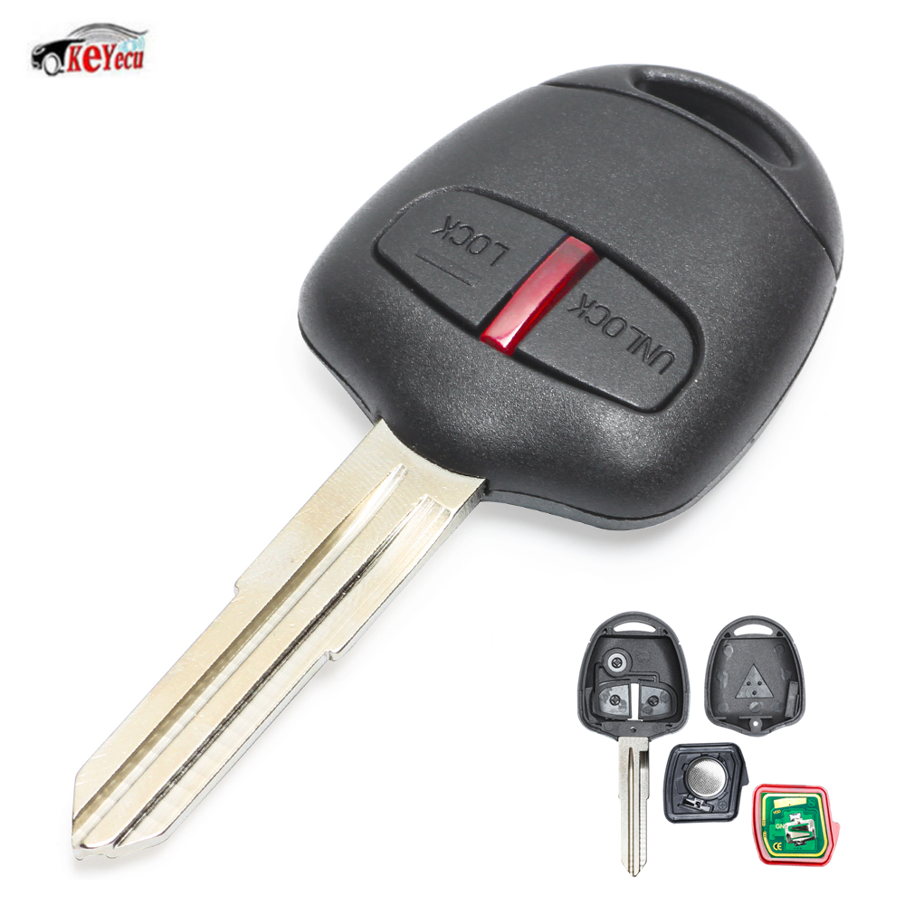 KEYECU <font><b>Replacement</b></font> Remote Car <font><b>Key</b></font> Fob 315MHz ID46 Chip for <font><b>Mitsubishi</b></font> <font><b>L200</b></font> Shogun Pajero Montero Triton with MIT8 Blade image