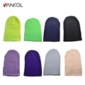 Vancol 2016 Fashion Solid Color Fluorescence Female Harajuku Hip Pop Hat Autumn Ladies Autumn Cap Women Knitted Winter Beanie