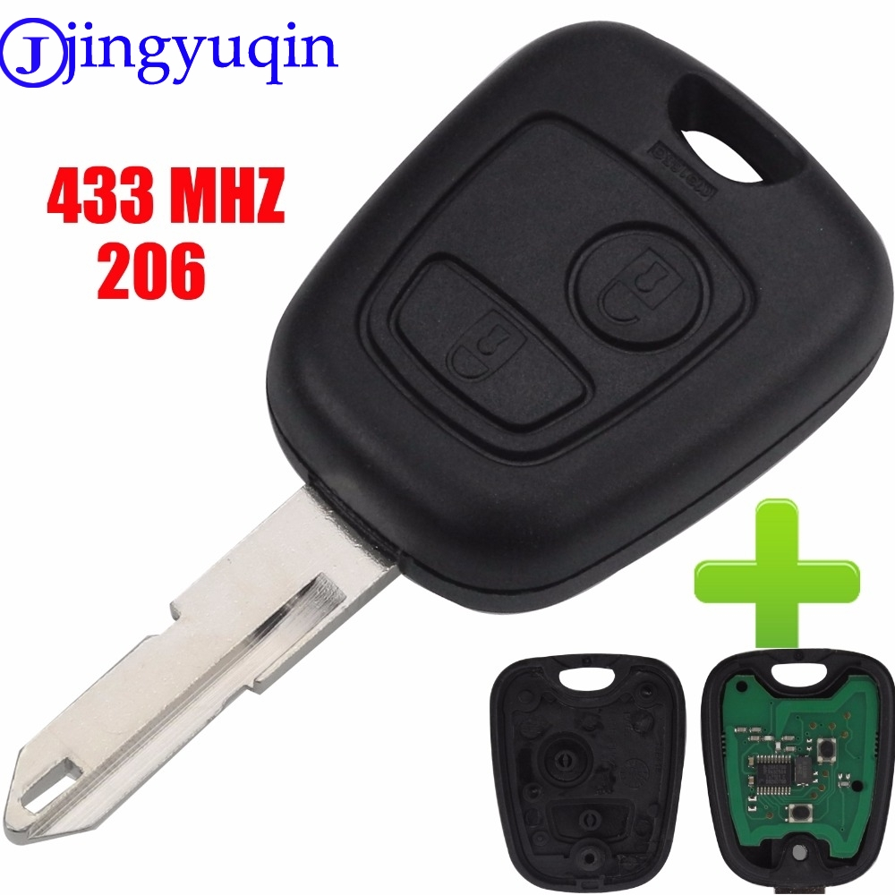 jingyuqin 2 Buttons ASK NE73 Blade Remote Key Fob Controller For PEUGEOT 206 433MHZ With PCF7961 Transponder Chip