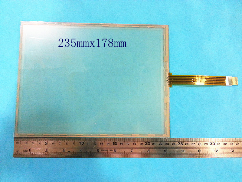 все цены на New 10.4 inch 5 wire Resistive Touch screen digitizer panel 235mm*175mm Touch/GPS/Tablet PC/MID touch panel