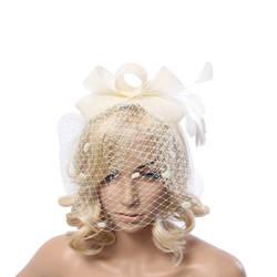 Новинка 2019 года Свадебная шляпа белый красная роза шампанское шляпа Тип лука перо комбинации свадебные аксессуары