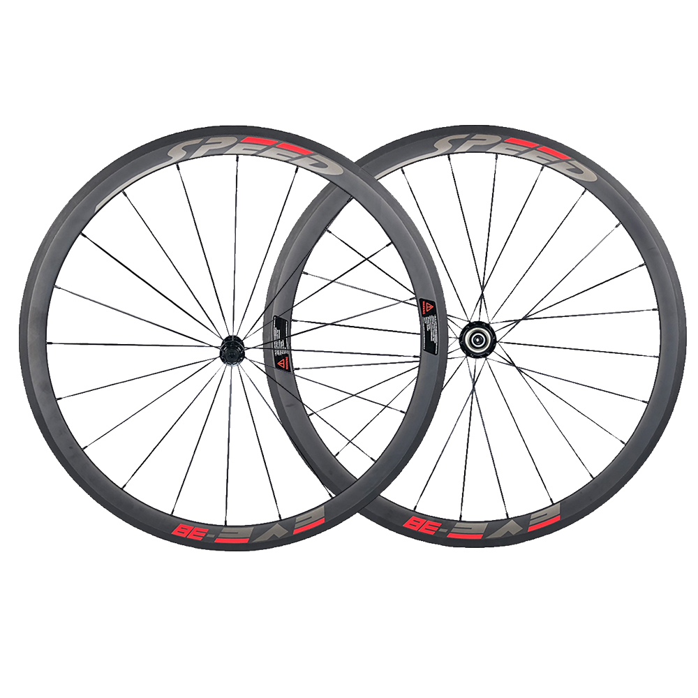 Jerry's Store Speedeve 38mm Carbon Road Bike Wheel 23mm Width 100% Carbon Fiber Bicycle Wheelset Front& Rear 700C High Quality wheel up bicycle rear seat trunk bag full waterproof big capacity 27l mtb road bike rear bag tail seat panniers cycling touring