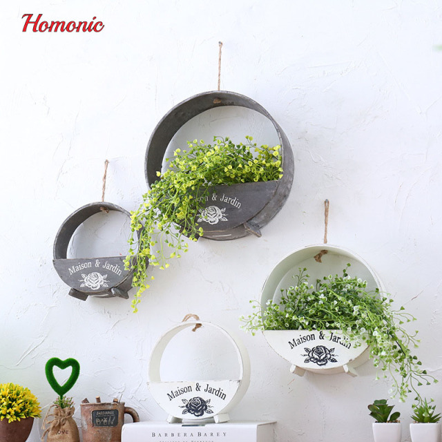 Artificial Admiralty willow in vertical garden hanging pots wooden DIY wall hanging vine wedding decoration for home hotel decor