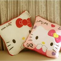 1pcs 35 35CM Super Kawaii Hello Kitty Cat Pillows Soft Back Cushion Stuffed Plush Toys Baby