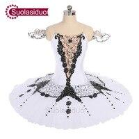 Взрослый белый классическая балетная пачка Лебединое озеро Perfromance этап одежда женский, Черный Балетки танцевальный конкурс костюмы для бал