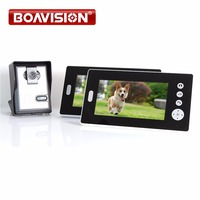 2 4GHz 7 Wireless Video Door Phone Audio Visual Intercom 2 Monitors With CMOS Camera Wireless