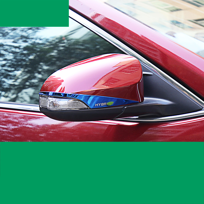 lsrtw2017 stainless steel car rearview trims for toyota camry hybrid 2012 2013 2014 2015 2016 2017 xv50