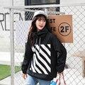 Harajuku Negro blanco sudadera con capucha cazadora chaquetas para mujer 2017 primavera kimono cardigan deportivo escudo plus tamaño de la chaqueta de béisbol