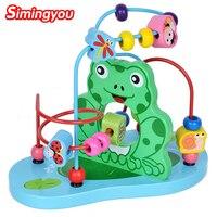 Simingyou Bằng Gỗ cho Trẻ Em Đồ Chơi Baby Doll Kids Giáo Dục Động Vật Đồ Chơi Hạt Chuỗi Của Beads Game C20 Thả Vận Chuyển