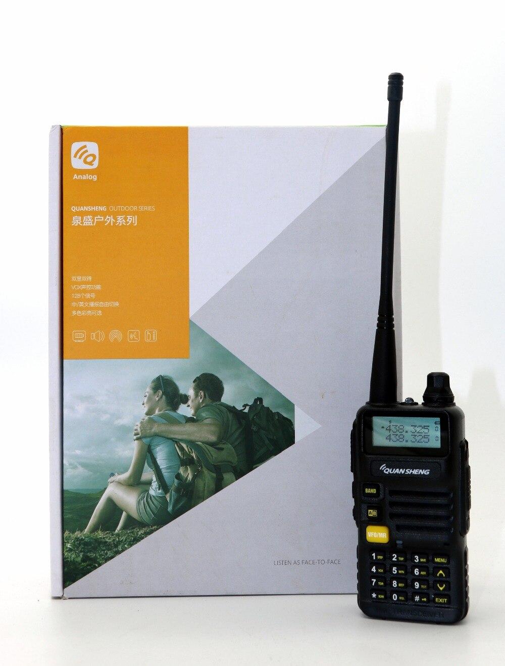 UV-R50 Quansheng Walkie Talkie Dual Band UVR50 CB Radio 128CH VOX 5 W Portatile Ricetrasmettitore FM Professionale per la caccia