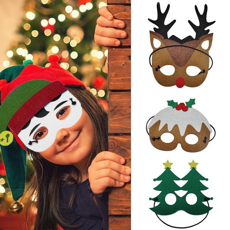 Speciale Kinderen Kostuum Masker Kerstmuts Elf Kerstboom Elanden Sneeuwpop Cartoon Masker Partij Cosplay Speelgoed Voor Kerstcadeaus