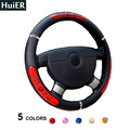 Hot Sell Dragon Design Auto Car Steering Wheel Cover 5 Colors Anti-slip For 37-38CM Auto Car Styling Steering-Wheel Car Covers
