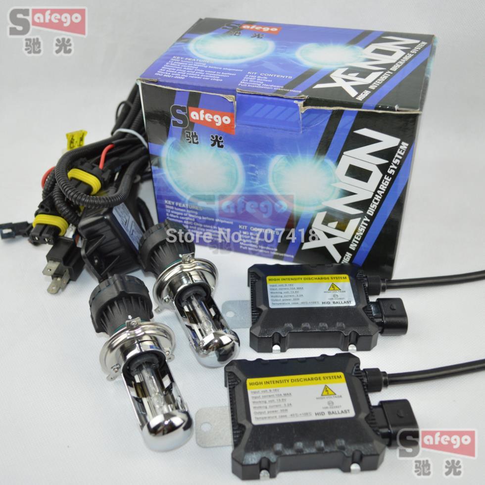 1set 12V 35W HID hi/lo bixenon H4 kit 4300K 6000K 5000K 8000K 10000K 12000K Hi Low hid bi xenon h4 kit Car headlight