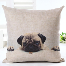 Pug pillow case for sofa