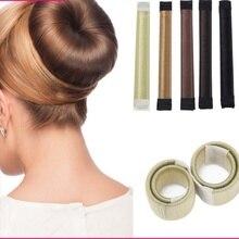 6 цветов DIY аксессуары для парикмахерских инструментов синтетический парик пончики бутон головная повязка мяч твист Французская заколка для пучка волос милая резинка для волос
