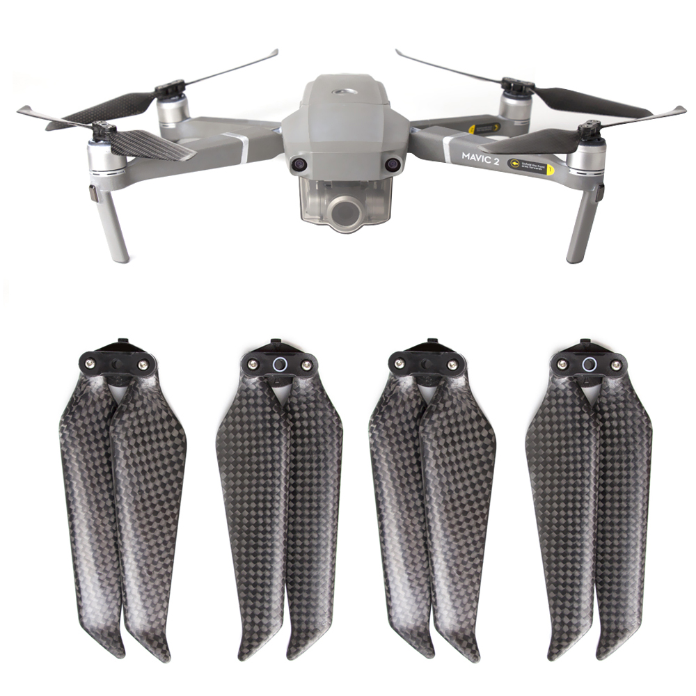 2 Pairs 8743F Propellers Carbon Fiber 8743 Quick Release Props For DJI MAVIC 2 Pro Mavic 2 Zoom Low Noise Propeller Blades