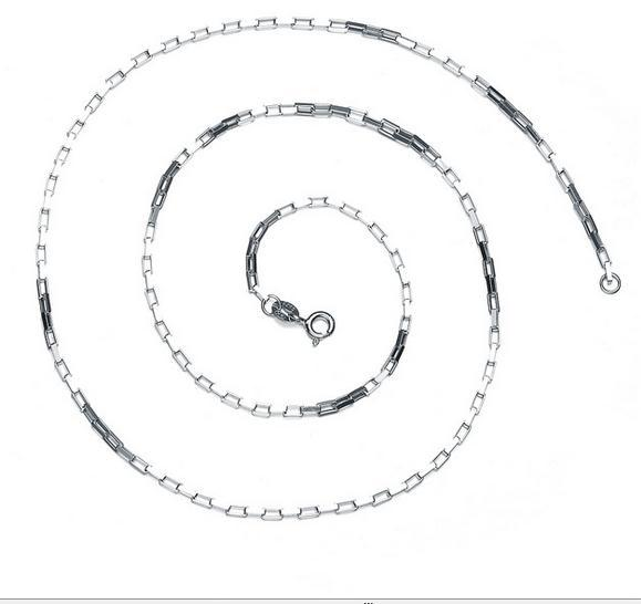 цена на Wholesale 100% Real Pure 925 Sterling Silver Necklace Brand Thick Chain Men Gift 925 silver long necklace 45/50CM free shipping